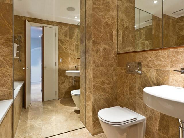 Đá Marble Light Emperador ốp phòng tắm