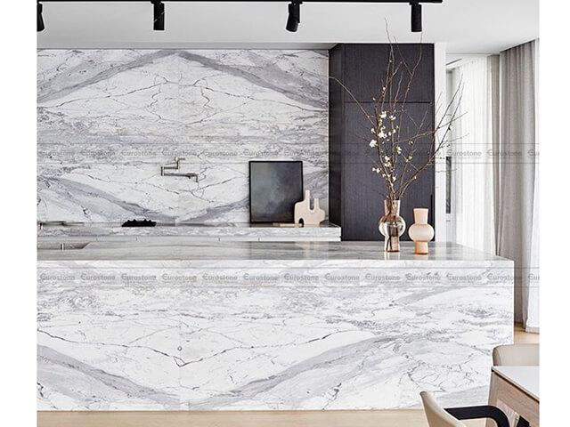 Đá Marble Statuario ốp bếp