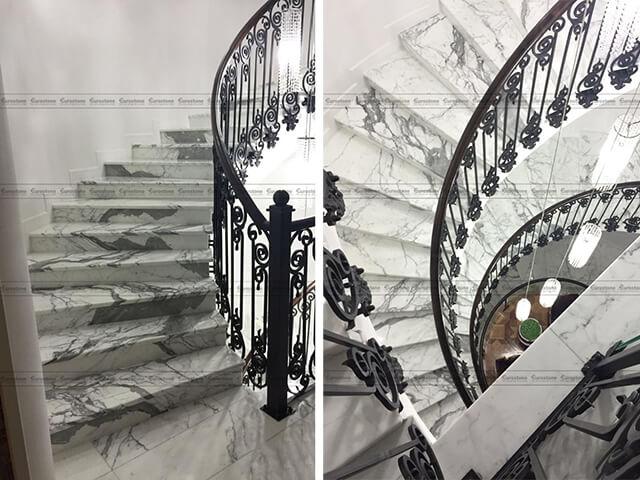 Đá Marble Statuario ốp cầu thang