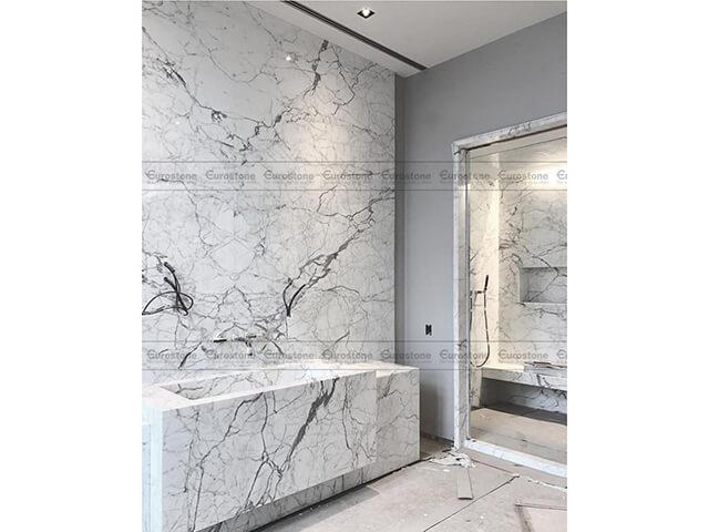 Đá Marble Statuario ốp phòng tắm