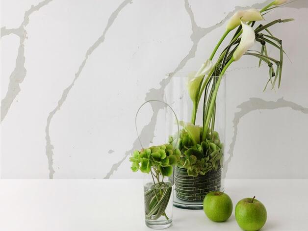 Đá quartz Calacatta ốp tường